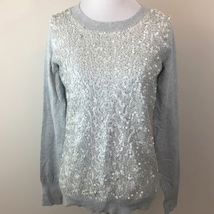 Express Gray Sequin Sweater. Medium, NWT
